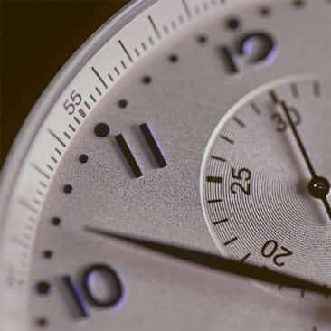 Clock with hand ticking