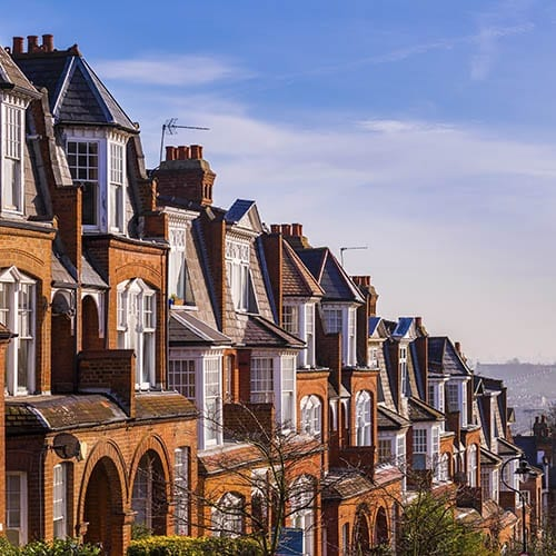 Capital gains Tax image - a row of houses