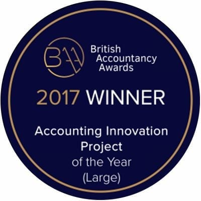 British Accountancy Awards 2017 Winner logo