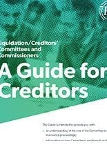 Creditors committee guide