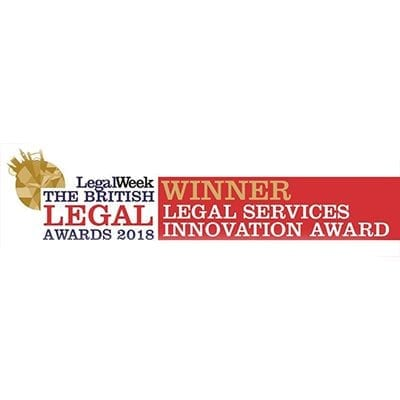Winner legal services innovation award logo