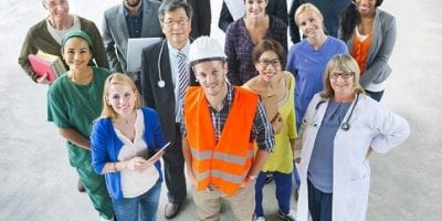 Group Of Different People With Different Jobs