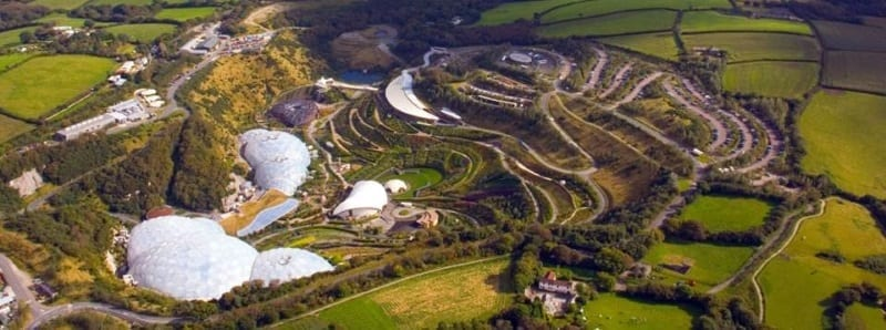 Aerial Photo Of Eden Project
