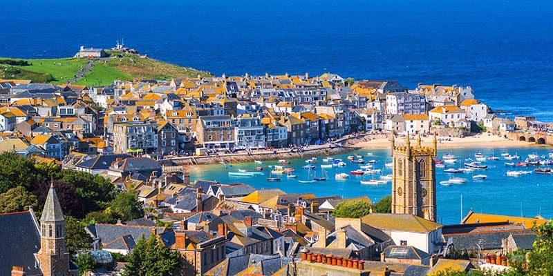 view of st ives harbour
