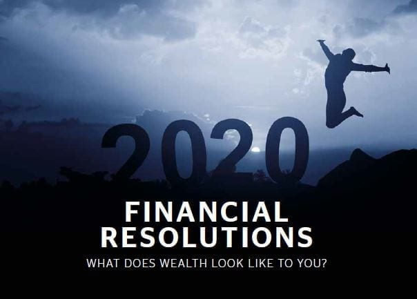 2020 Financial Resolutions Front Cover