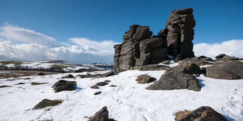 Snow Covered Rocky Landscape