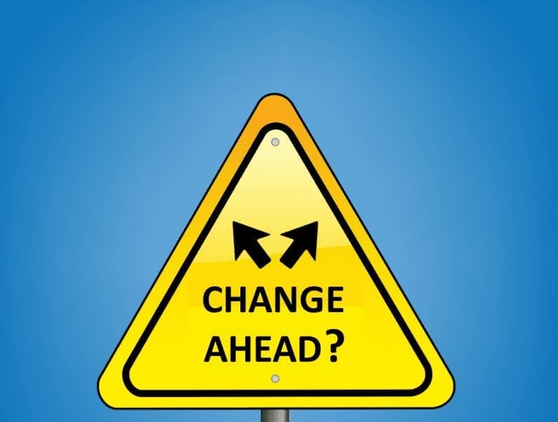 Change Ahead Sign Question