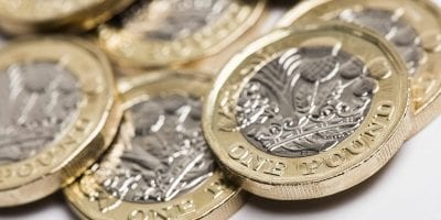 Close Up Of One Pound Coins