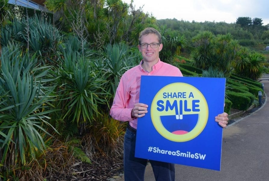Tom Roach, Partner At PKF Francis Clark, Launching The Share A Smile Campaign