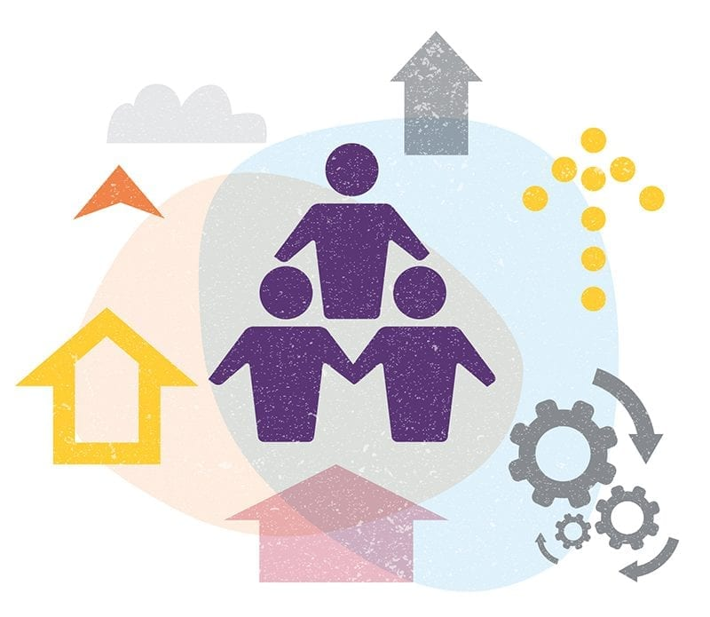 Family Business sector illustration