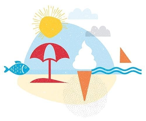 Hotels, Leisure & Tourism sector illustration